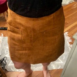 Size 6 brown suede pocket skirt